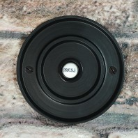 Black Classical Round Push Door Bell