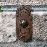 'Mackintosh' Burnished Copper Ornate Bell Pushes