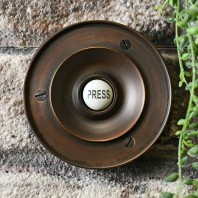 'Chelsea' Burnished Copper Circular Bell Push