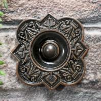 'Regent Hill' Ornate  Burnished Copper Bell Push