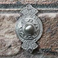 """Hampern Close"" Brushed Chrome Decorative Bell Push"