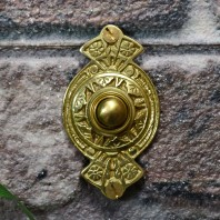"""Hampern Close"" Polished Brass Decorative Bell Push"