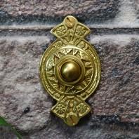 """Hampern Close"" Polished Brass Decorative Bell Push"