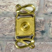 """Maytree Avenue"" Polished Brass Swirl Pattern Bell Push"