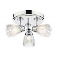 Polished Nickle Adjustable Three Light Bathroom Light