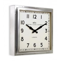 Bright Chrome Contemporary Wall Clock