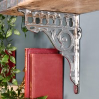 """Ribbleshead"" Classic Railway Chrome Shelf Bracket 26 x 21cm"