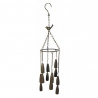 Bronze Bird Garden Wind Chimes