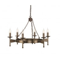 """Newry Court""  Bronze Blacksmith Candle Inspired Chandelier"