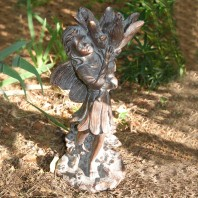 Bronze Finish Flower Fairy Garden Sculpture