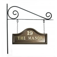 Bronze Plain Double Sided House Name Sign