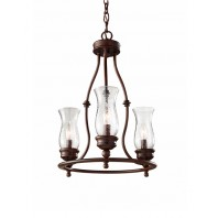 """Stablebrock Park"" Bronze Vintage Farmhouse Style Ceiling Light"