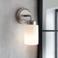 Brushed Nickel Bathroom Wall Light