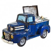 Metal Blue Cooler Pick-Up Truck