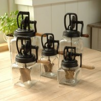 Dazey Glass Jar Butter Churns