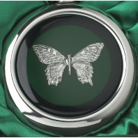 Butterfly Whiskey Flask