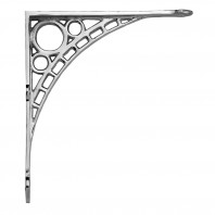 "Large Bright Chrome ""Iron Bridge"" Shelf Bracket 33 x 33cm"