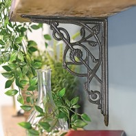 Trellis Iron Shelf Brackets 24 x 19cm