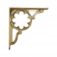 """Florala"" brass shelf bracket 35 x 30cm"