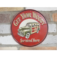Woody Car Sign