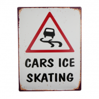 """Cars Ice Skating"" Wall Sign"
