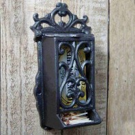 Cast Iron Ornate Matchbox holder