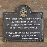 "Cast Iron ""Poachers"" Sign"
