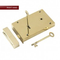 """Castille"" Large Solid Brass Rim Lock - Right Hand Door"