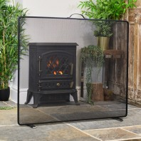 """Castonmere"" Square Black Bespoke Fire Screen"