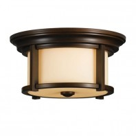 """Thaynwick"" Ceiling Light with Antique Cream Glass Shade"