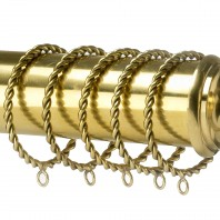 Curtain Rings - Twisted Brass