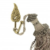 Polished Brass Curtain Hook - Leaf Design