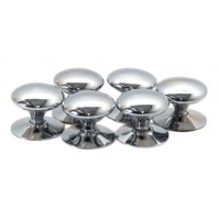 "Bright Chrome ""Chanterelle"" Cabinet Knobs"