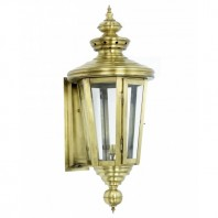 'Cheltenham' Antique Brass Veranda Lantern or Wall Lantern