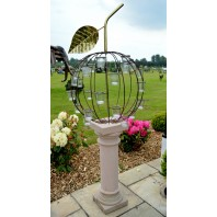 """Regally Ripe"" Wrought Iron Cherry Garden Sculpture"