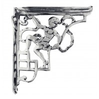 Cherub Design Bright Chrome Bracket 24 x 20cm