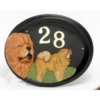 House Sign - Hand Painted - Chow  Chow