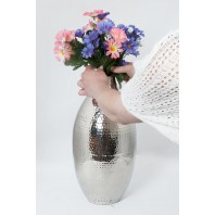 """Haslingfield Hall"" Planished Flower Vase"