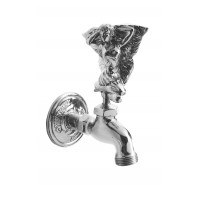Bright Chrome Flower Fairy Garden Tap