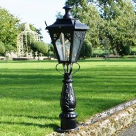 Gothic Wall, Post,  Balustrade, or Column, Mounted Lamp Post 19½