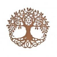 "Rustic ""Tree of Life"" Circular Wall Art - 60cm"