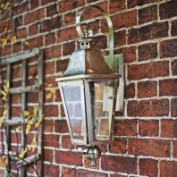 """Cleobury"" Antique Silver Wall Lantern"