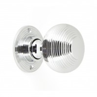 Heavy Duty Polished Chrome Beehive Door Knobs