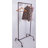 """Darnall Place""  Iron Industrial Clothes Rail"