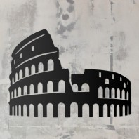 Rome Colosseum Steel Wall Art