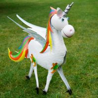 Colourful Hand-Painted Unicorn Sculpture