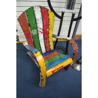 """Mollren Court"" Colourful Recycled Metal Chair"