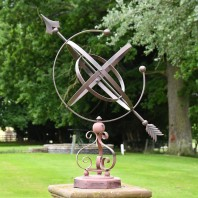 Concordia Armillary Wrought Iron Scroll Design