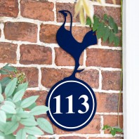 Contemporary Cockerel Iron House Number Sign