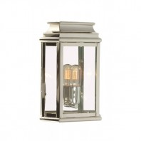 """Hildene Manor"" Polished Nickel Traditional Porch Light"